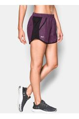 Under Armour Morado / Negro de Mujer modelo FLY BY PRINTED SHORT Deportivo Shorts