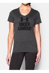 Under Armour Gris Oscuro de Mujer modelo BRANDED TECH V Deportivo Polos