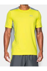 Camiseta de Hombre Under Armour UA COOLSWITCH RUN S/S Amarillo / gris