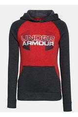 Under Armour Rojo / negro de Niño modelo ua tri-blend hoodie Deportivo Poleras