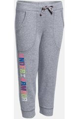 Under Armour Gris de Niña modelo FAVORITE FLEECE CAPRI Deportivo Pantalones