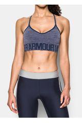 Under Armour Gris / Negro de Mujer modelo SEAMLESS STREAKY HEATHER Deportivo Polos Tops Ropa