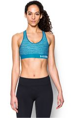 Under Armour Turquesa de Mujer modelo ARMOUR MID BRA PRINTED Tops Deportivo