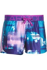 Under Armour Morado / Celeste de Niña modelo PRINTED PLAY UP SHORT Deportivo Shorts