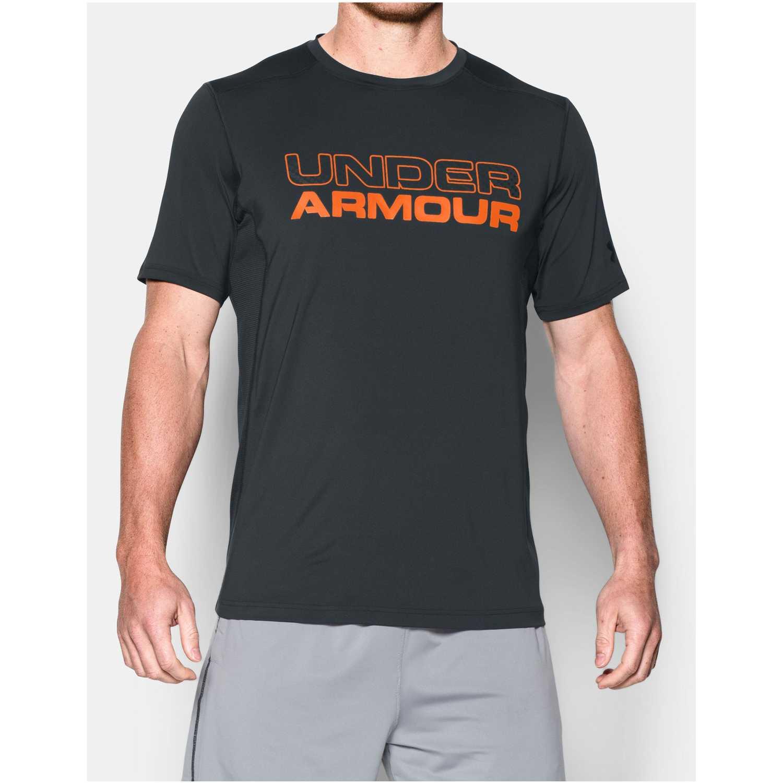 79316c451b0 Camiseta de Hombre Under Armour Plomo / Naranja raid graphic ss ...