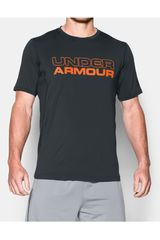 Camiseta de Hombre Under Armour Plomo / Naranja RAID GRAPHIC SS