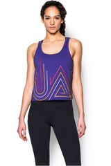 Under Armour Morado de Mujer modelo FLY BY 2.0 GRAPHIC MIDI Bividis Deportivo