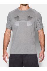 Under Armour Gris / Blanco de Hombre modelo TECH HORIZON BIG LOGO SS T Camisetas Deportivo Polos Walking Hombre Ropa