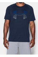 Under Armour Azul / Gris de Hombre modelo TECH HORIZON BIG LOGO SS T Camisetas Polos Deportivo