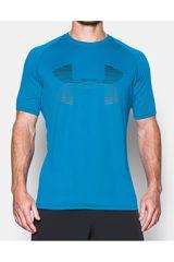 Camiseta de Hombre Under Armour TECH HORIZON BIG LOGO SS T Celeste / azul