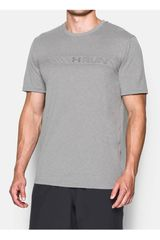 Camiseta de Hombre Under Armour UA RUN CHEST GRAPHIC S/S Gris
