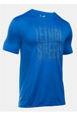 Camiseta de Hombre Under Armour UA LETHAL SPEED S/S Azul