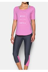 Under Armour Lila de Mujer modelo ESSENTIALITSTHEWILL DEMI TEE Polos Deportivo