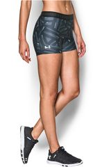Under Armour Gris / Negro de Mujer modelo UA HG ARMOUR PRINTED SHORTY Deportivo Pantalonetas Shorts