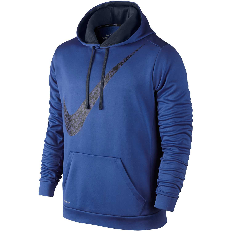 Polera de Hombre Nike Azulino / Azul ko graphic swoosh hoody