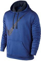 Ropa de Hombre Nike KO GRAPHIC SWOOSH HOODY Azulino / Azul