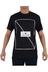 Volcom Negro de Hombre modelo LINE THROUGH S/S TEE Polos Casual