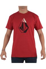 Volcom Rojo de Hombre modelo CRACKED IN S/S TEE Polos Hombre Casual Ropa