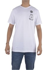 Quiksilver Blanco de Hombre modelo PM SS TEE BAD MACHINE Polos Casual