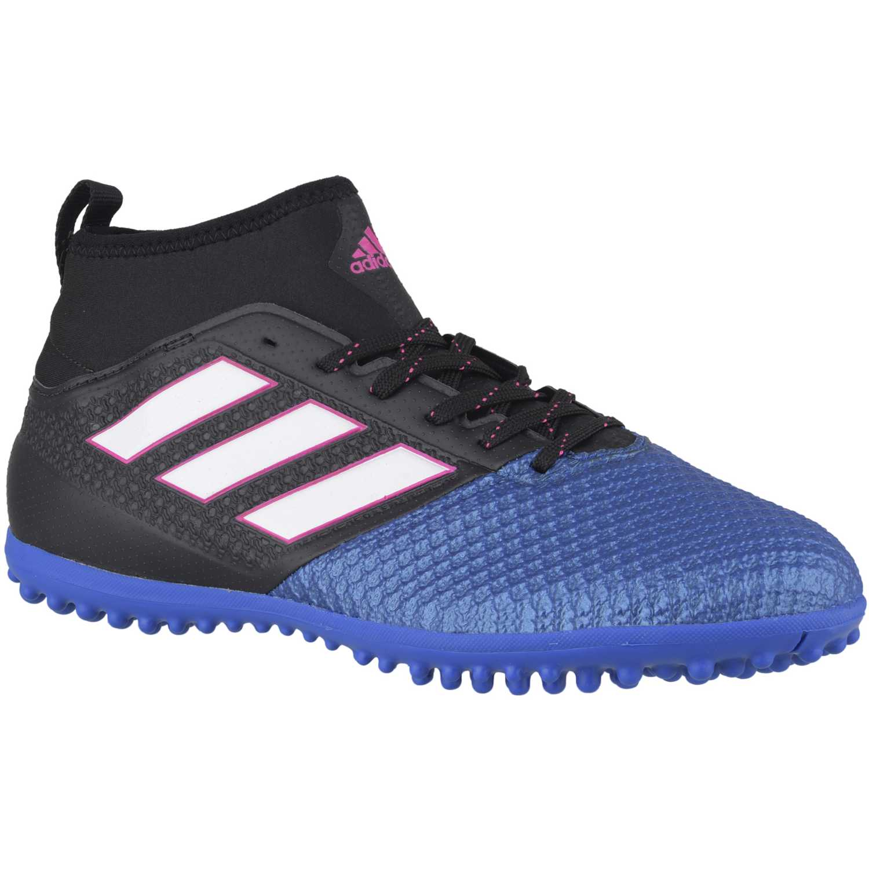 reputable site 5fe66 04585 Zapatilla de Hombre adidas Negro  Azul ace 17.3 primemesh tf