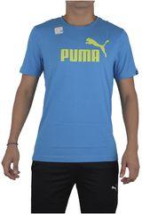 Puma Celeste / Verde de Hombre modelo ESS NO.1 TEE Polos Deportivo Training Running Ropa Hombre
