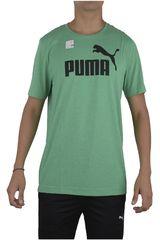 Puma Verde / Negro de Hombre modelo ESS NO.1 HEATHER TEE Ropa Polos Deportivo Hombre