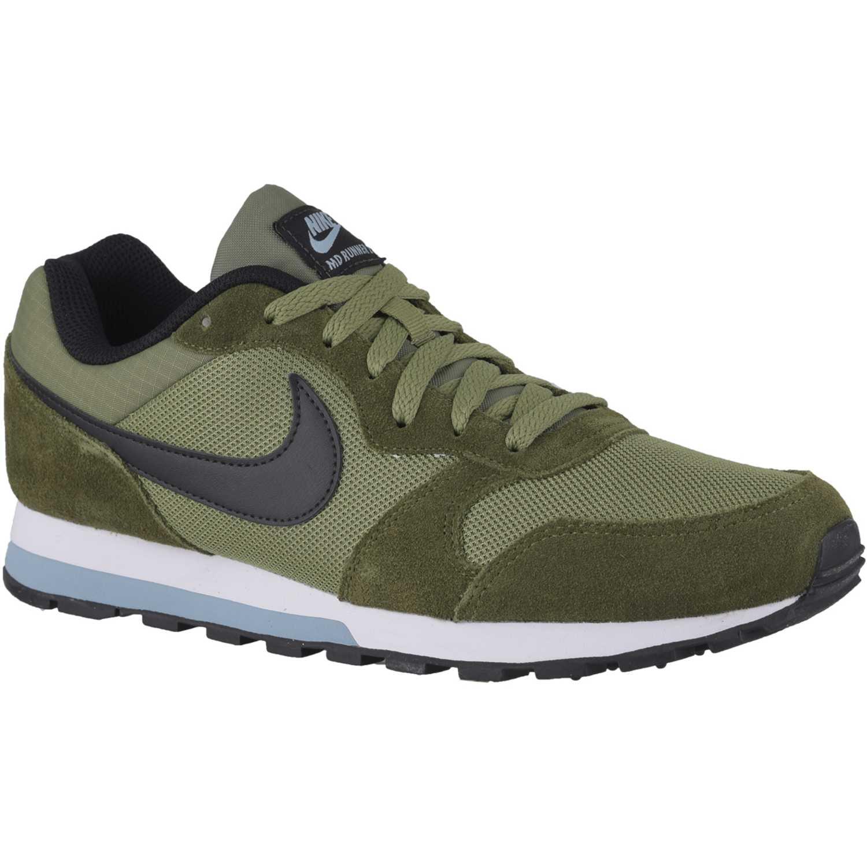 7d300683f86 Zapatilla de Hombre Nike Verde   Blanco md runner 2