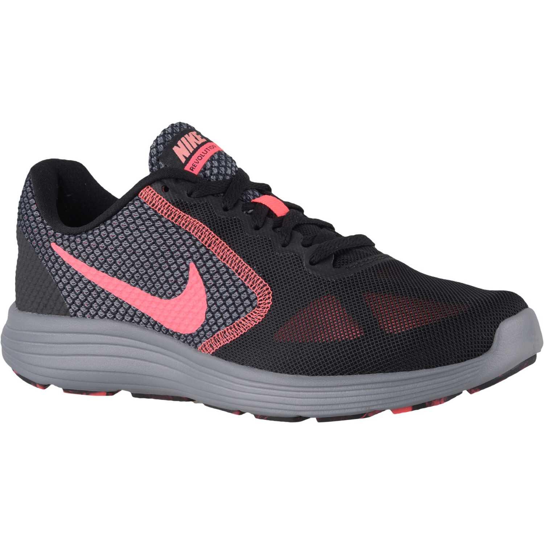 dd2001844 Zapatilla de Mujer Nike Negro   Rosado wmns revolution 3 ...