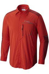 Columbia Rojo de Hombre modelo TRAIL STRIKE  SHIRT Hombre Casual Camisas Ropa