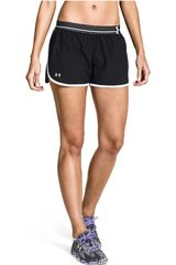 Under Armour Negro / Blanco de Mujer modelo UA PERFECT PACE SHORT Deportivo Shorts