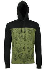 Dunkelvolk Verde / Negro de Hombre modelo TEXAS Casual Poleras