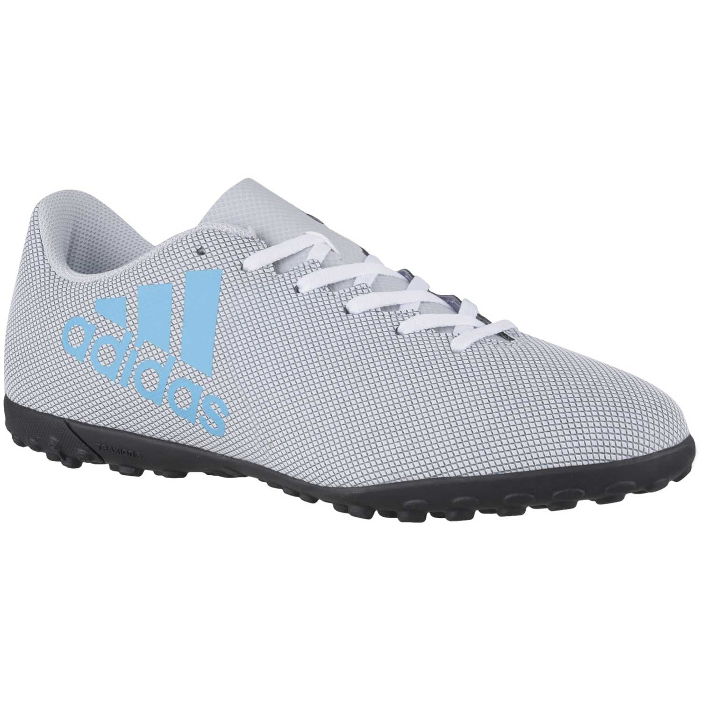 Zapatilla de Hombre adidas Gris   Celeste x 17.4 tf  d076760391a7b