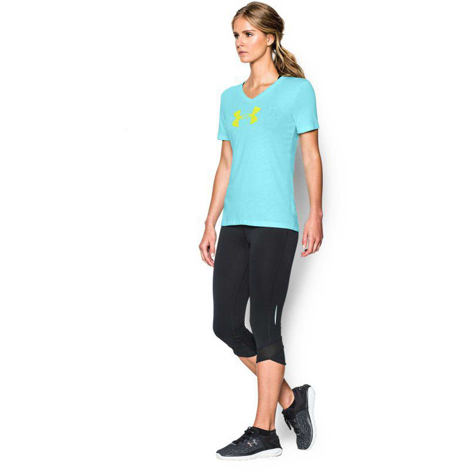 Polo de Mujer Under Armour Celeste branded core