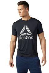 Reebok Negro de Hombre modelo WOR ACTIVCHILL SS GRPH Polos Deportivo