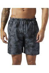 Reebok Gris de Hombre modelo RUN 8 INCH SHORT Deportivo Shorts Hombre Ropa