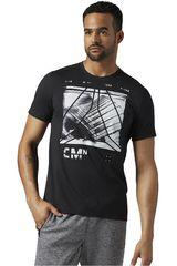 Reebok Negro de Hombre modelo SPEEDWICK BLEND GRPHC TEE Deportivo Polos Hombre Ropa
