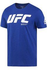 Reebok Azul de Hombre modelo UFC FG LOGO SS TEE Polos Deportivo