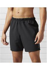 Reebok Negro de Hombre modelo 7 INCH SHORT Deportivo Shorts Hombre Ropa