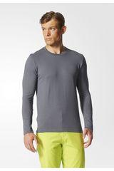 Polo de Hombre Adidas Plomo LOGO LS M