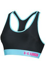 Top de Mujer Under Armour Negro / Celeste ARMOUR MID W. CUPS (CON COPAS)