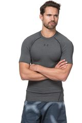 Under Armour Gris / negro de Hombre modelo ARMOUR HG SS T Camisetas Fit Deportivo Polos
