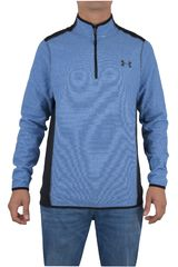 Under Armour Azul / Negro de Hombre modelo THE CGI FLEECE 1/4 ZIP Deportivo Poleras