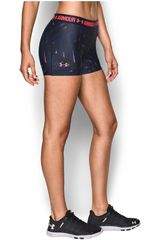 Under Armour Negro / Morado de Mujer modelo UA HG ARMOUR PRINTED MIDDY Deportivo Pantalonetas Shorts Mujer Ropa