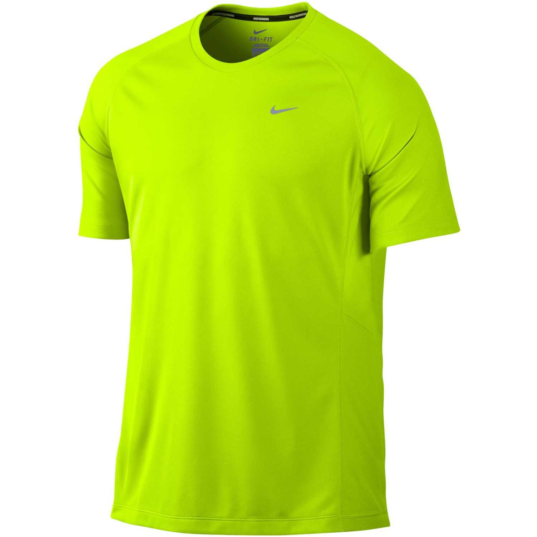 Hombre Nike De Ss Camiseta team Uv Limón Miler E6q45w