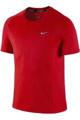 Nike Rojo de Hombre modelo DF MILER FUSE SS Polos Deportivo