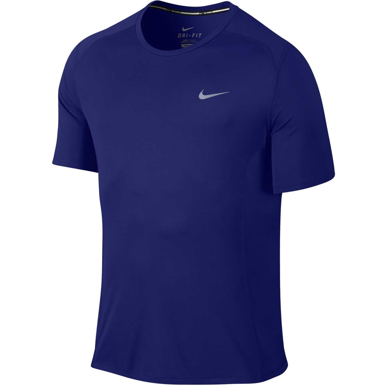 Polo de Hombre Nike Azulino df miler ss
