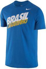 Nike Azul / Blanco de Hombre modelo CBF CORE TYPE TEE Polos Deportivo