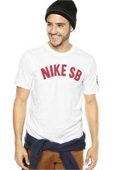 Nike Blanco / Rojo de Hombre modelo SB SPRING TRAINING TEE Hombre Casual Ropa Polos