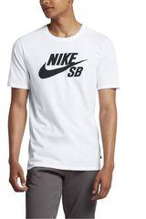 Nike Blanco / Negro de Hombre modelo SB LOGO TEE Polos Hombre Casual Ropa