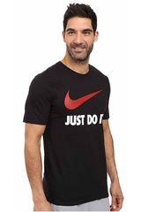 Polo de Hombre Nike Negro / rojo new jdi swoosh